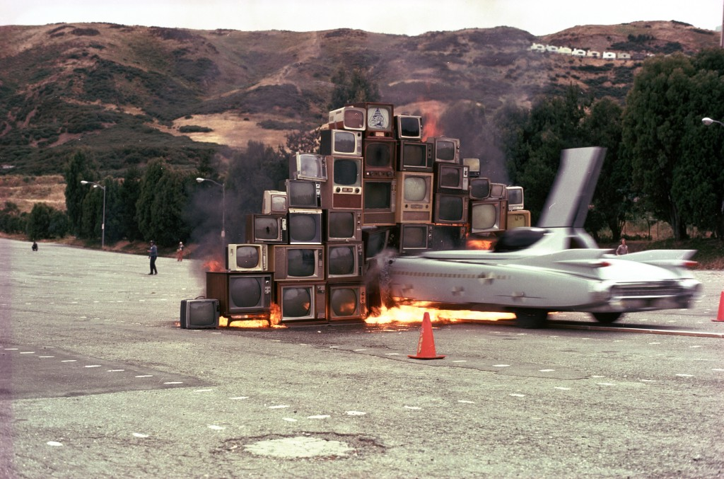 Ant Farm, Media Burn, event at the Cow Palace, San Francisco, 1975.